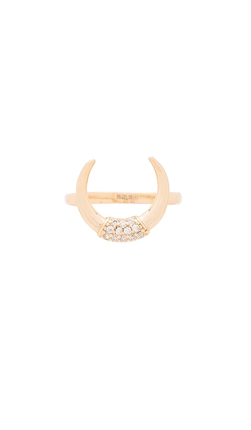 SHASHI Horn Pave Ring in Gold
