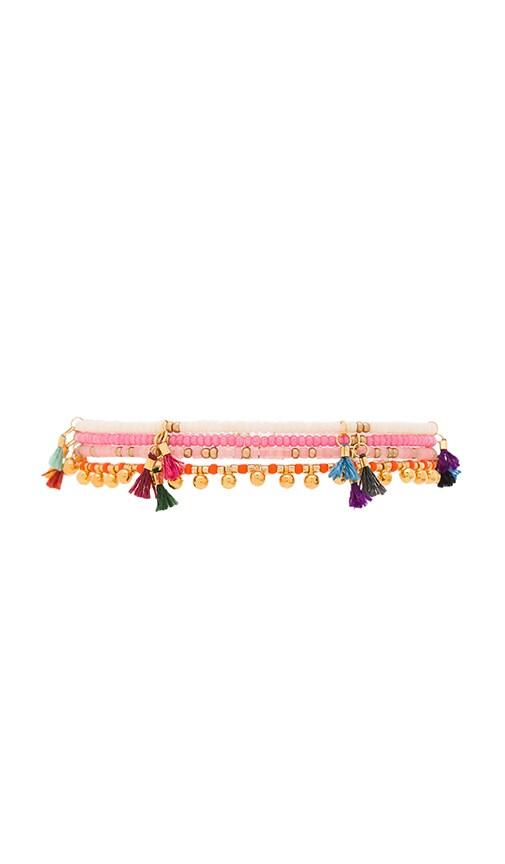 SHASHI Lilu Bracelet Set in Pink