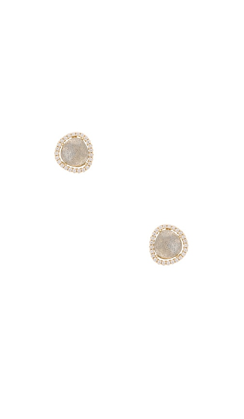 SHASHI Nora Pave Earring in Metallic Gold