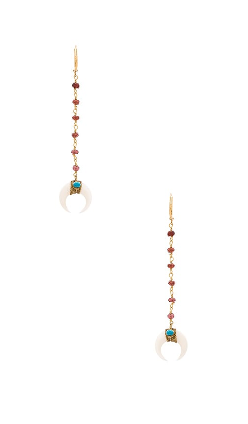 SHASHI Tusk Drop Earring in Metallic Gold
