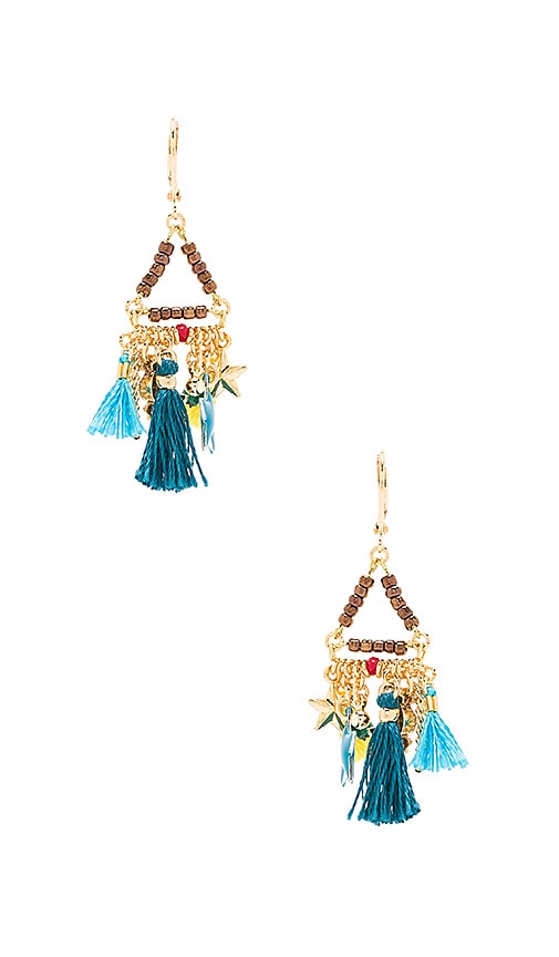 SHASHI Lilu Charm Earrings in Metallic Gold