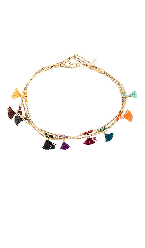 SHASHI Olivia Bracelet in Metallic Gold