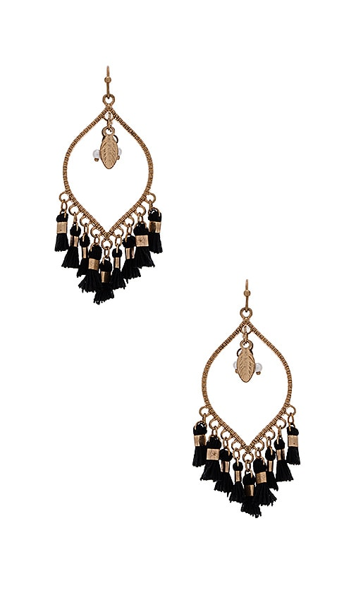 SHASHI Mira Earring in Metallic Gold