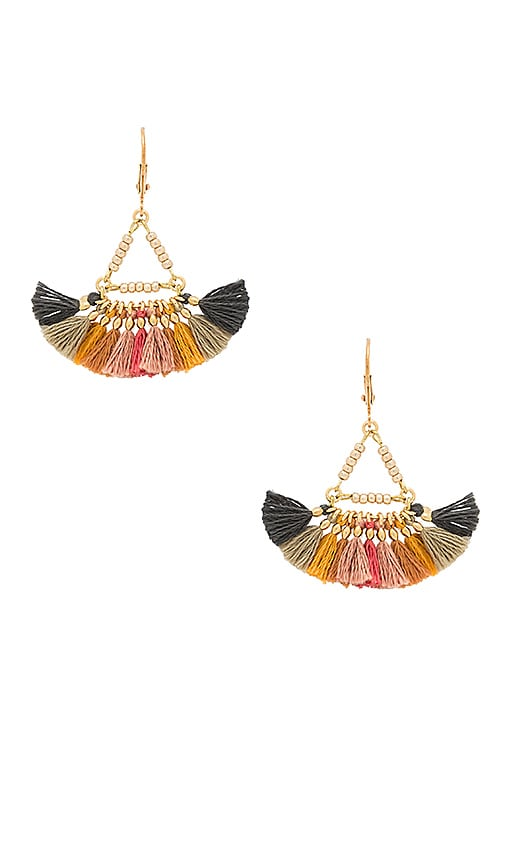 SHASHI Lilu Earrings in Metallic Gold
