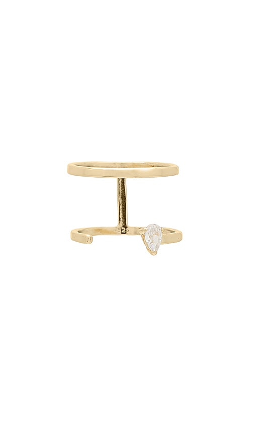 SHASHI Whitney Ring in Metallic Gold