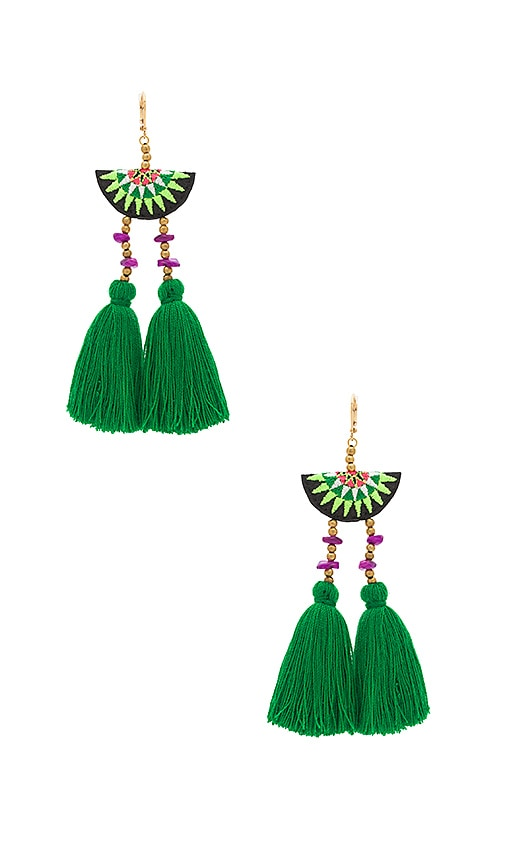 SHASHI Camilla Drop Earring in Metallic Gold