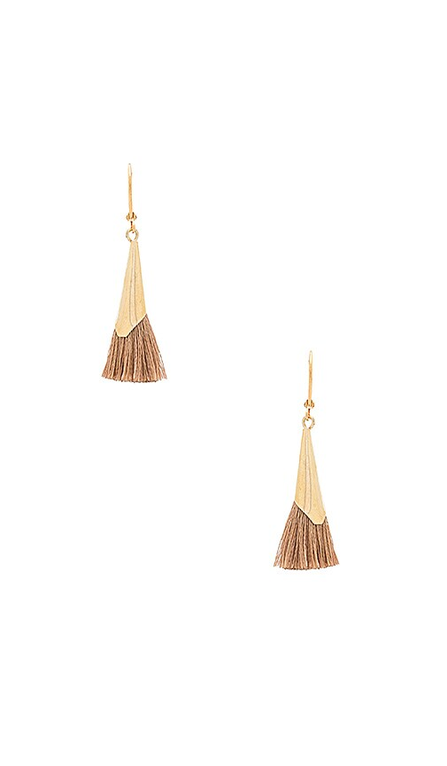 SHASHI Jill Cone Earring in Metallic Gold