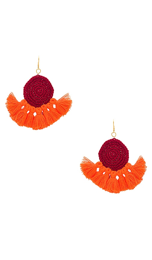SHASHI Lena Tassel Earring in Red