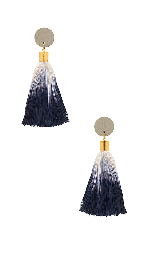 SHASHI Leni Tassel Earring in Metallic Gold