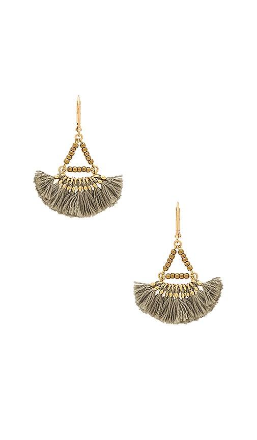 Shashi Lilu Earrings in Metallic Gold 7UHafH