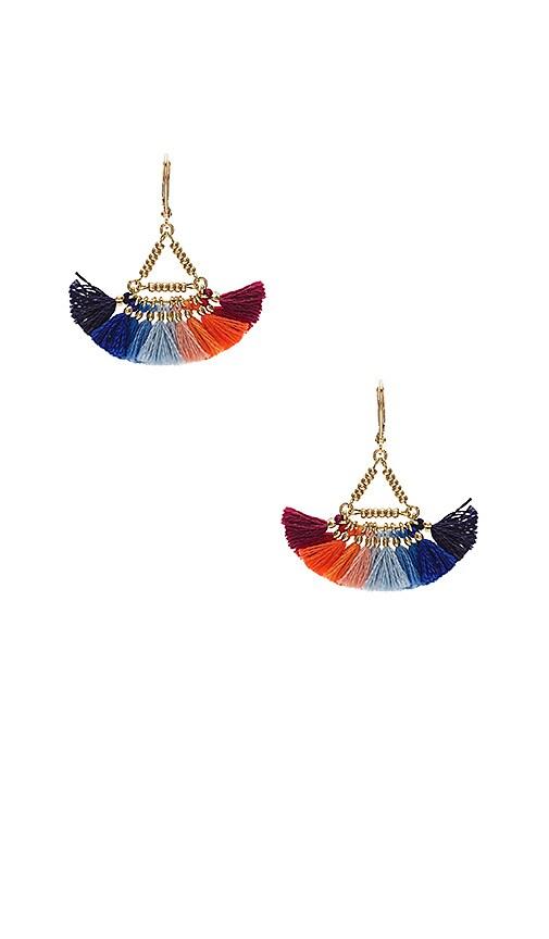 SHASHI Lilu Earring in Metallic Gold