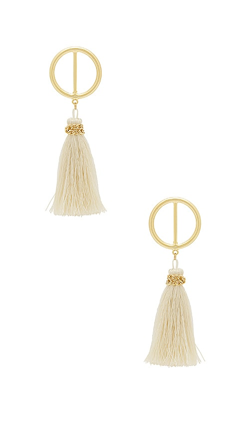 SHASHI Mia Hoop Earring in Metallic Gold