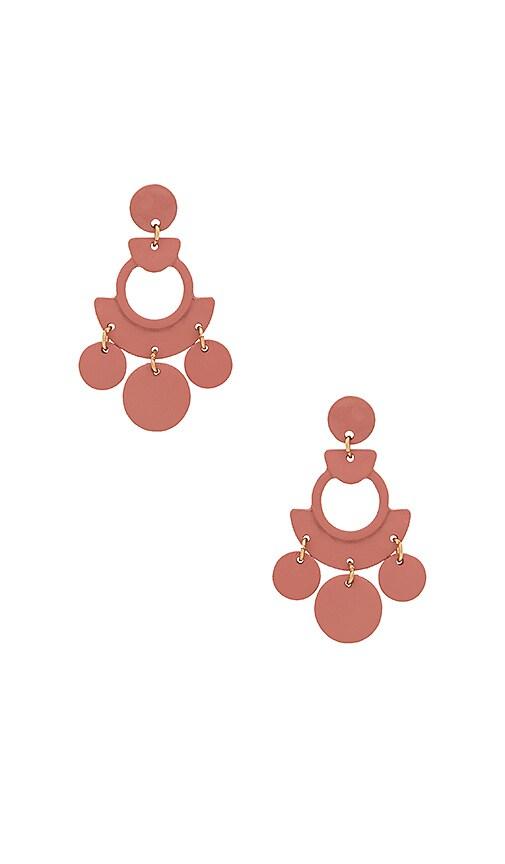 SHASHI April Earrings in Rose