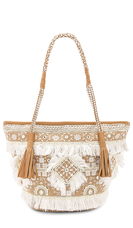 SHASHI Belly Tote in Beige