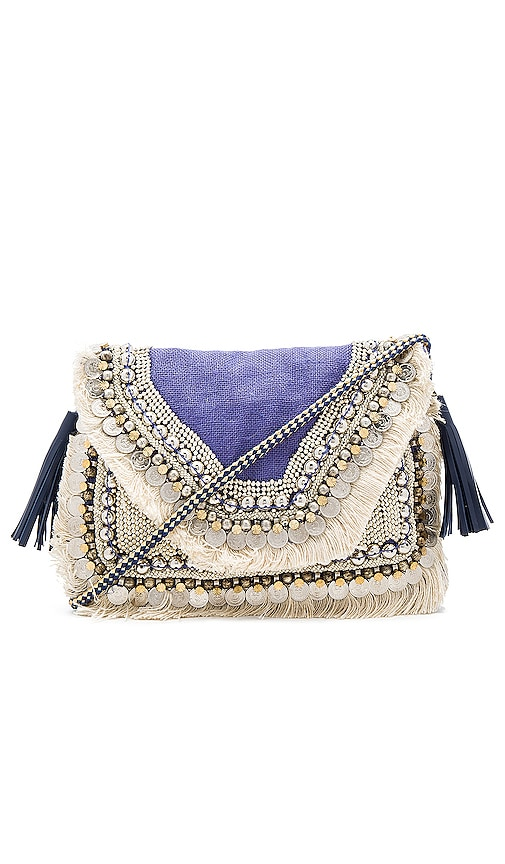 SHASHI Leela Clutch in Purple