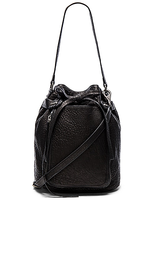 she + lo Lookin Up Bucket Bag in Black