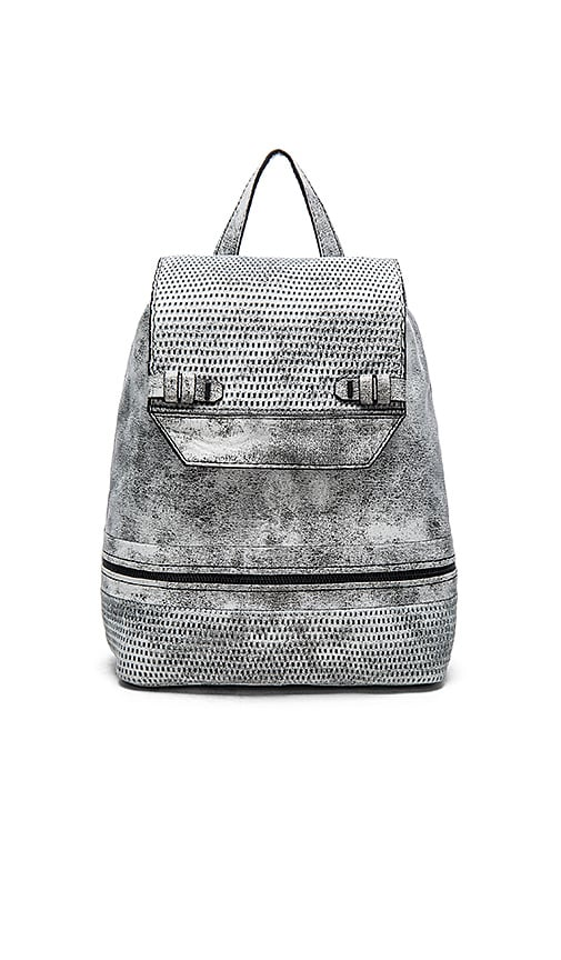 she + lo Silver Linings Backpack in Black and White