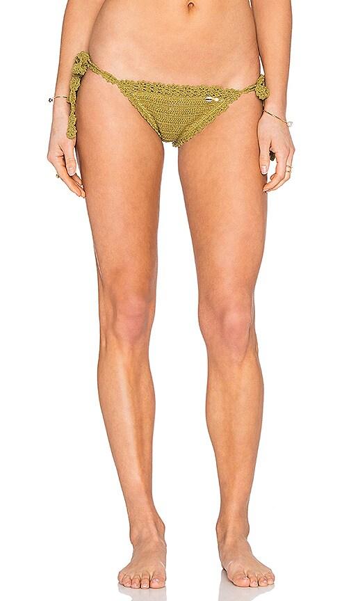 SHE MADE ME Hira Tie Side Bikini Bottom in Green