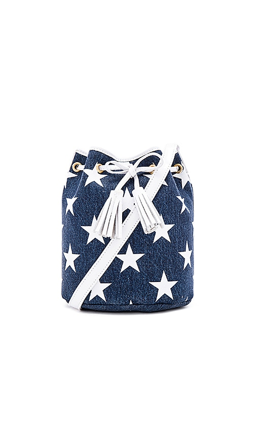 Shaffer x REVOLVE The Greta Bucket Bag in Blue