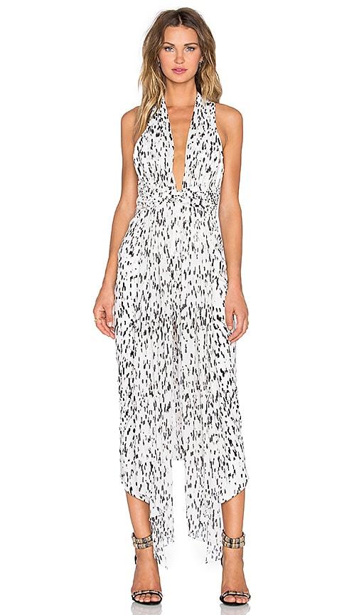 Shona Joy Deia Plunged Midi Dress in White