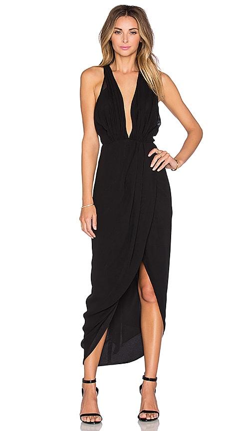 Shona Joy The Storm Cross Front Dress in Black