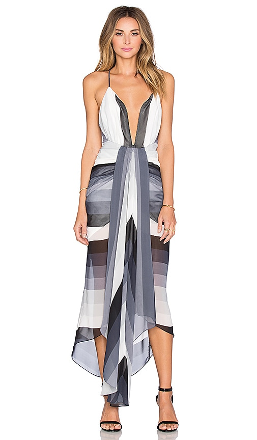 Shona Joy Horizon Midi Dress in Multi