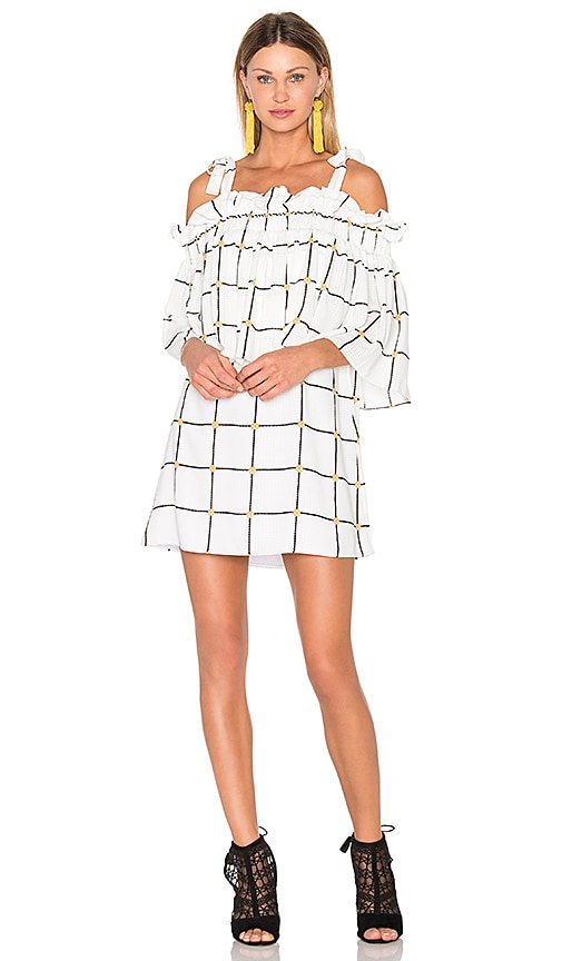 Chateau Frill Mini Dress