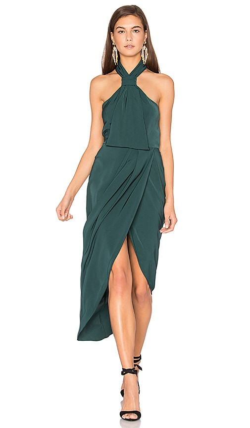 Shona Joy Core Knot Dress in Green
