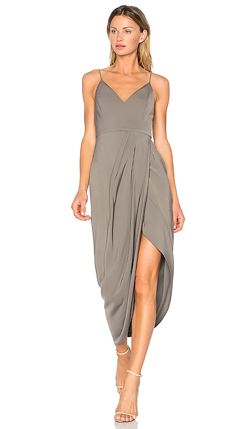 Shona Joy Stellar Drape Dress in Brown
