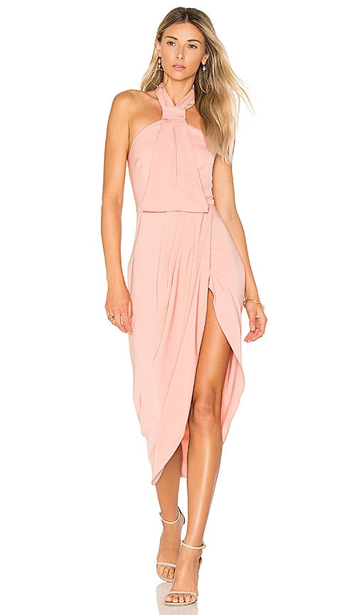 Shona Joy Knot Draped Dress in Pink
