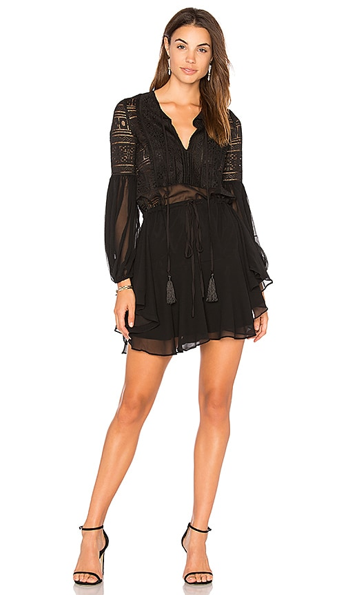Shona Joy Stevie Mini Dress in Black