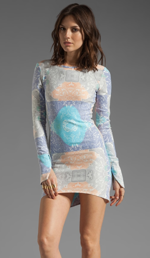 Hypnotic Haze Long Sleeve Body Con Dress