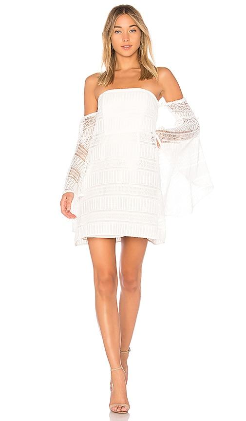 Shona Joy Antigua Aruba Flared Sleeve Dress in Ivory