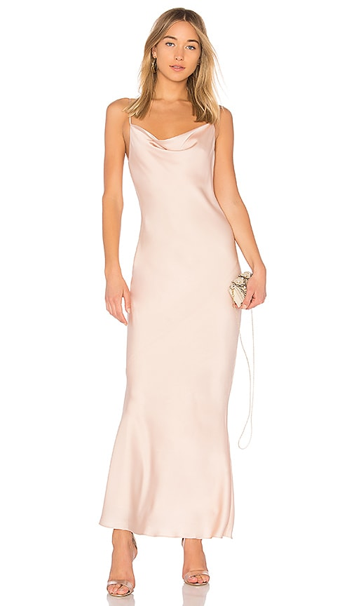 Shona Joy Calypso Cowl Slip Dress in Blush