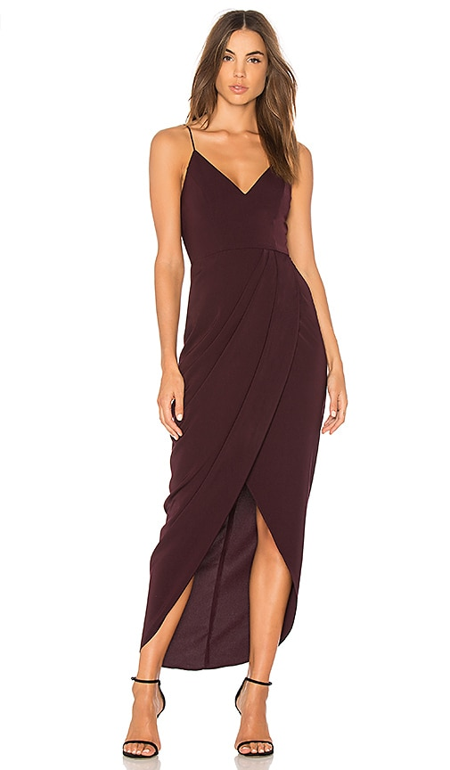 Shona Joy Cocktail Draped Dress in Purple