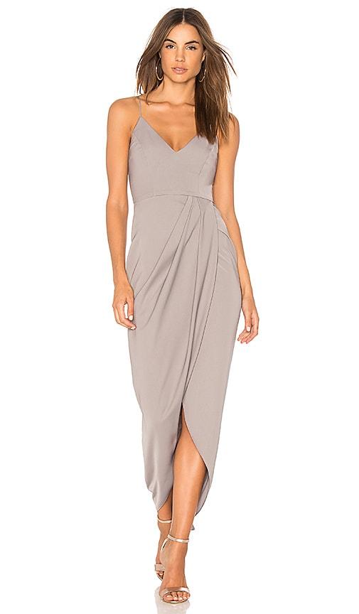 Shona Joy Cocktail Draped Dress in Gray