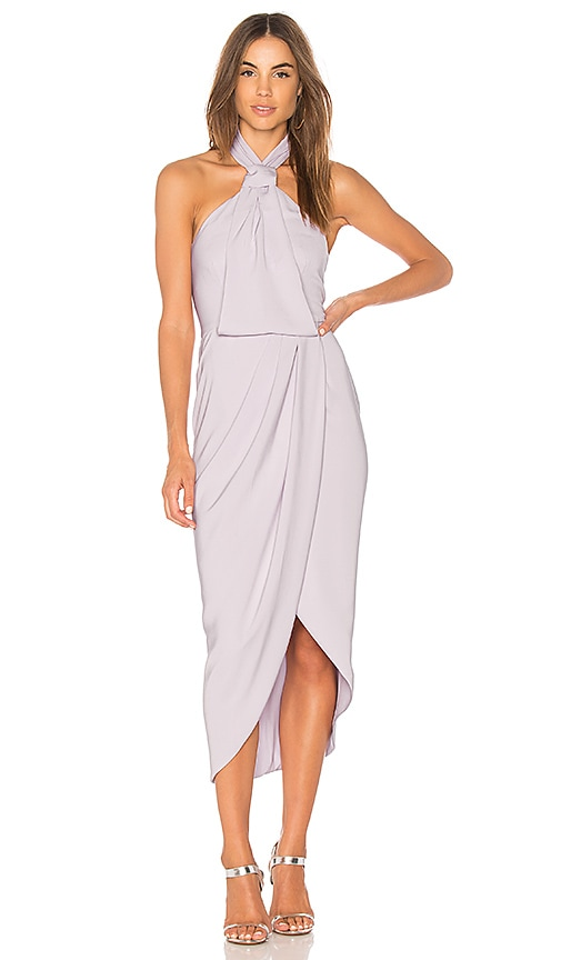 Shona Joy Knot Draped Dress in Lavender