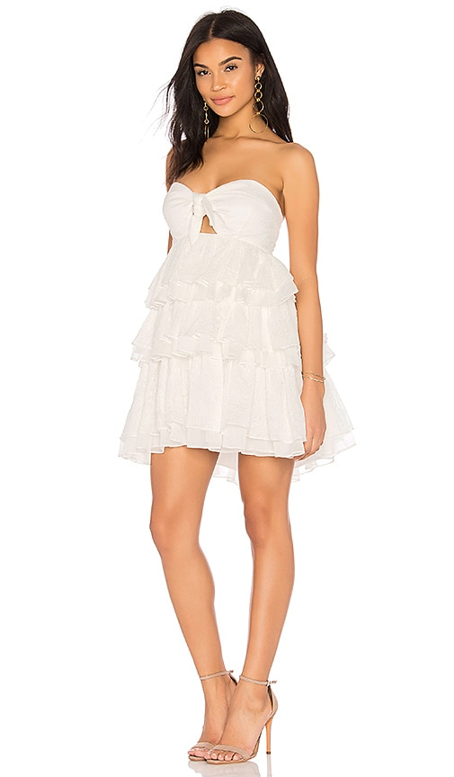 Shona Joy Uccello Tiered Dress in White