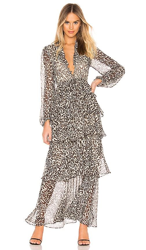 b4601a08214 Shona Joy Mariposa Tiered Maxi Dress in Leopard