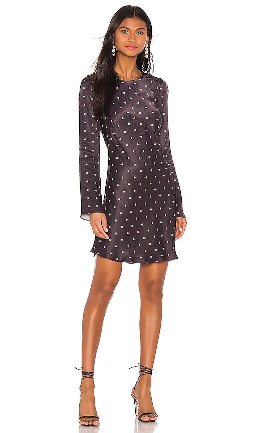 O'dell Long Sleeve Bias Mini Dress