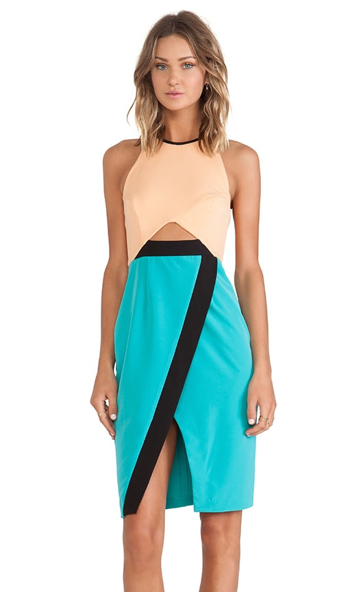New Wave Cross Over Bodycon Dress
