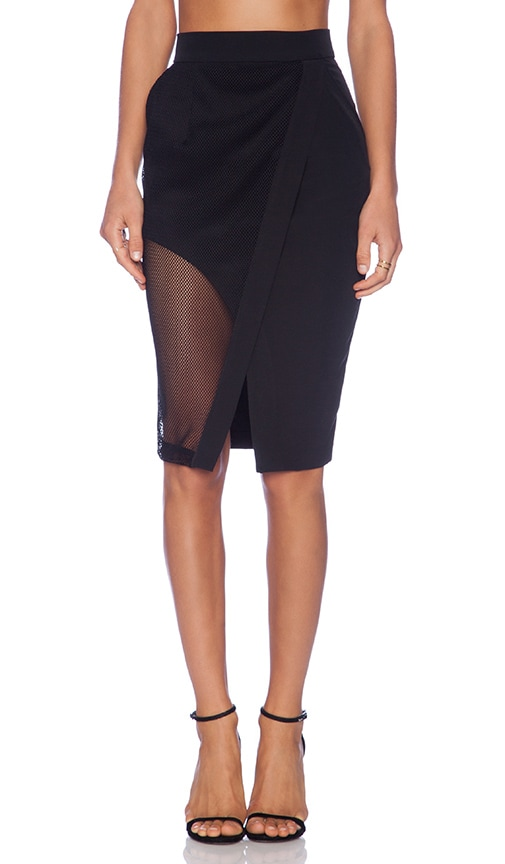 The Caged Wrap Skirt