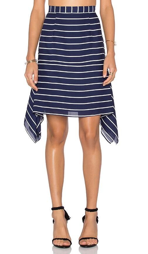 Shona Joy Isabelle Handkerchief Mini Skirt in Navy