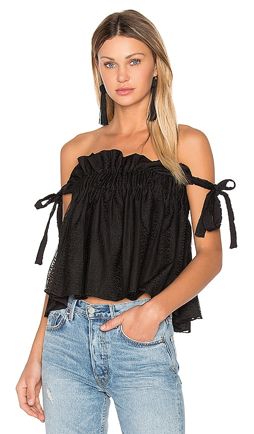 Shona Joy Moliere Ruched Top in Black