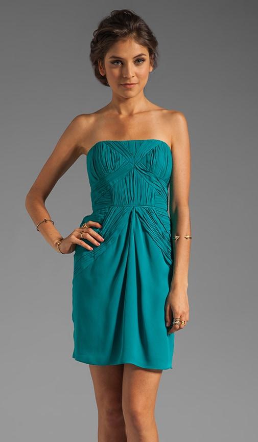 Aquamarine Silk Nahla Dress