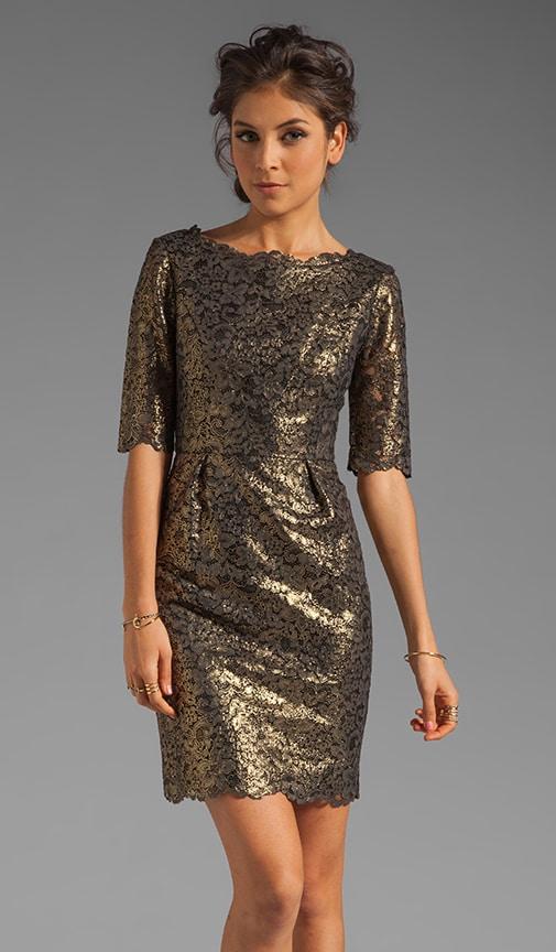 Metallic Guipure Lace Minka Dress