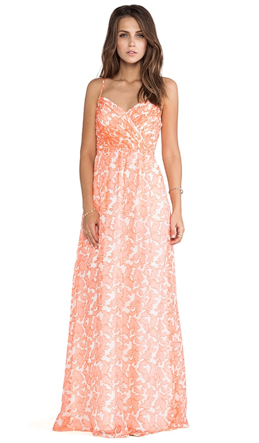 Coral Reef Chiffon Maxi Dress
