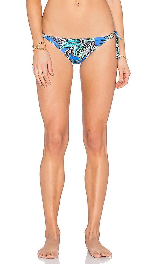 Shoshanna Tropical Palms String Bikini Bottom in Blue Multi