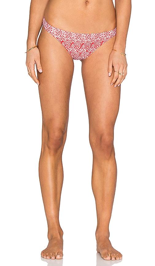 Shoshanna Kilim Ikat Classic Bikini Bottom in Red & White