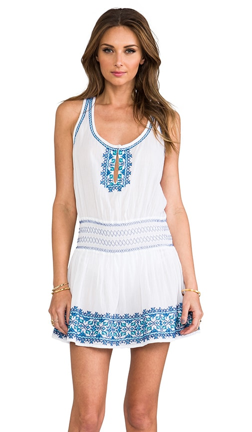 Santorini Embroidery Dress